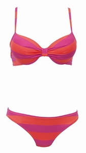 Rosa Faia sale pink orange push up bikini  maat 38D & 40D