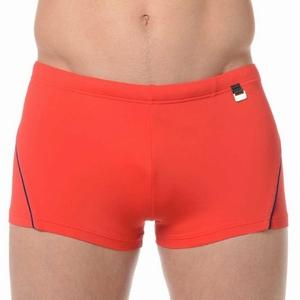 HOM sale swim shorts Sport red met navy biesje XL