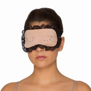 Prima Donna By Night, zijden slaapmasker cream black