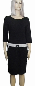 Sensi Wear sale homewear zwarte jurk met bies, maat L