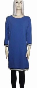 Sensi Wear sale homewear blauwe jurk met bies, maat M