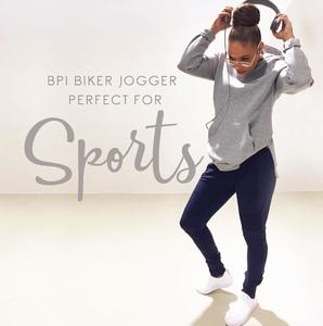 Blue Pepper bpi jogg pants biker style man & vrouw, marine