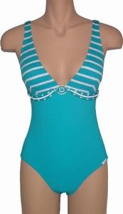 Lidea, badpak met voorgevormde cups in sportief aquablauw