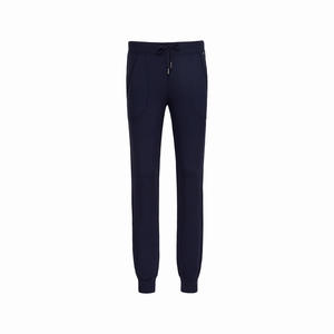 Cyell sale trousers long dark navy smooth jersey