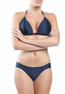 Sedna, Shila padded, Push Up halterbikini in marine bleu