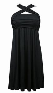 Rosa Faia, sale zwart makkelijk strandjurkje maat S & M