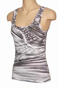 Classy black&white hemdje van Pompadour, waves
