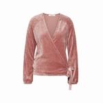Cyell homewear velours old rose overslagvest maat 38