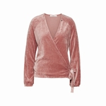 Cyell homewear velours old rose overslagvest maat 42