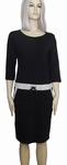 Sensi Wear sale homewear zwarte jurk met bies, maat M