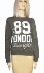 Sensi wear sale, hippe homewear sweater met tekst, army S/M
