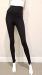 ChiaRico, ideale comfy zachte zwarte legging, maat L