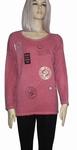 Sensi Wear sale shirt met badgesprint longsleeve, rood