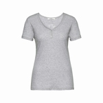 Cyell shirt short sleeve grey melange shirt met korte mouw