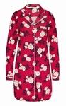 Cyell nachthemd lange mouw fleur rouge bloemig rood