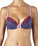 Aubade Cherry/Cherie, push up plunge in griotte, cup B80