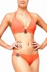 Sedna Sakari padded push up bikini, Orange B cup maat  XL